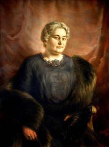 Портрет на г-жа Златева - 1915 г. Художествена галерия Стара Загора