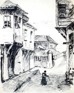 Улица в Созопол, 50-те год. на 20 век.