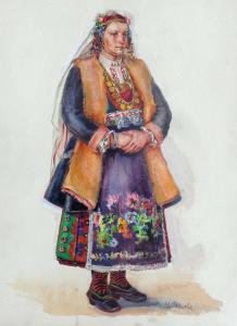 16 Женска носия от Новозагорско