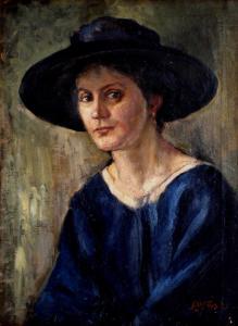 Дамски портрет - 1920 г.