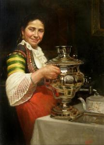 Вакарелка със самовар - 1899 г.