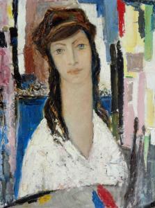 Момиче /В ателието/, около 1982 г.