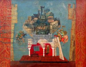 """Сценографски проект за операта """"Цар Калоян"""" на П. Владигеров, 1975 г."""